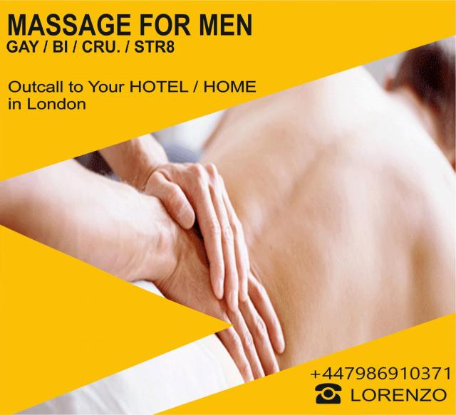 MASSAGE for MEN GAY-BI-STR. by MALE MASSEUR OUTCALL 3 Image
