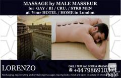 MASSAGE BY MALE MASSEUR for MEN at Your HOTEL HOME
