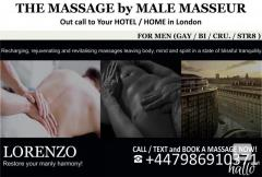 MASSAGE by MALE MASSEUR FOR MEN  OUT-CALL to HOME HOTEL