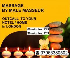 MASSAGE London FOR GAY, BI, STR8 MEN to HOTEL HOME