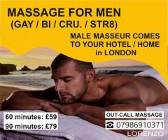 Massage By  Male Masseur For Men Out-Call London