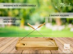The Best Cutting Board - With 2 Free Skewers