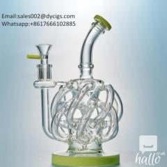 12 Recycler Tube Glass Bong Design Water Pipe Vortex