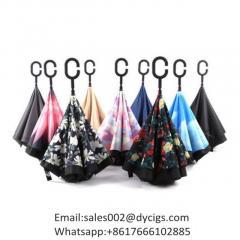 Windproof Reverse Folding Umbrella Double Layer