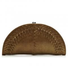 BUY BOTTEGA VENETA METALLIC INTRECCIATO LEATHER CLUTCH