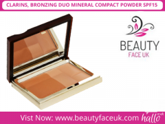 CLARINS, BRONZING DUO MINERAL COMPACT POWDER SPF15
