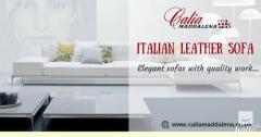 Italian Leather Sofa in best price-Calia Maddalena