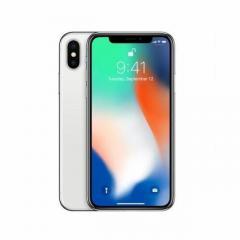 Apple iPhone X 256GB Silver Unlocked Phone jj
