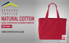 Natural Cotton Canvas Shopping Bag for Brands Promotio
