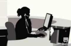 seek office job with escort or massage service