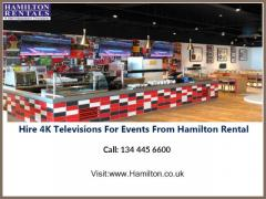 Hire 4K Televisions For Events From Hamilton Rental