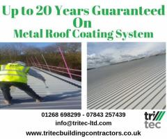 Up to 20 Years Guaranteed  on Metal Roof Coating System