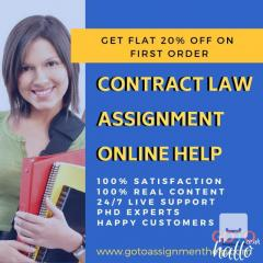Get 20 Off On Online Contract Law Assignment