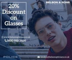 Avail 20Percent Discount on First Order of Glasses