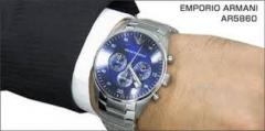 Emporio Armani Mens AR5860 Stainless Steel Quartz Watch
