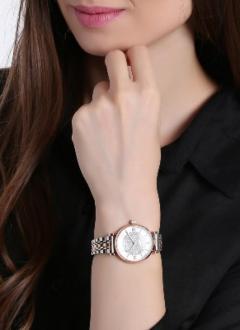 Emporio Armani Ar1926 White Dial Two-Tone Ladies Watch